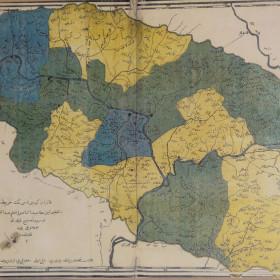 Карта Казанской губернии, составленная Каюмом Насыри